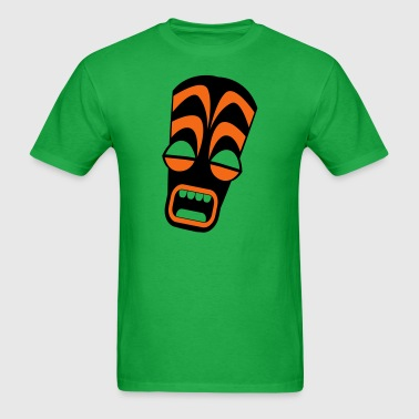 freaky tiki upright stretched in horror! - Men's T-Shirt