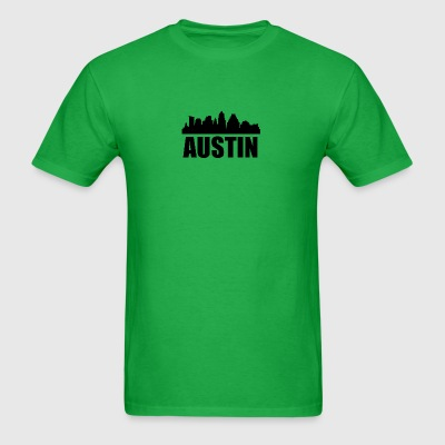 Austin TX Skyline - Men's T-Shirt