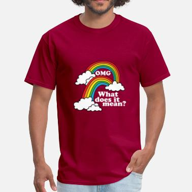 Double Meaning Funny Double Rainbow Funny T Shirt - Men's T-Shirt