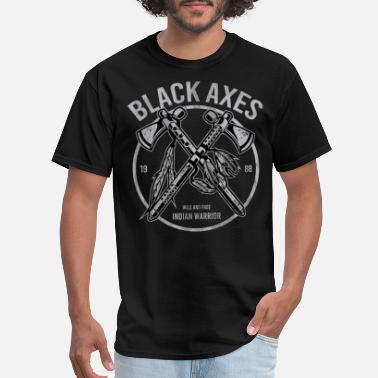 Indians Black Axe - Native American Indian - Men's T-Shirt