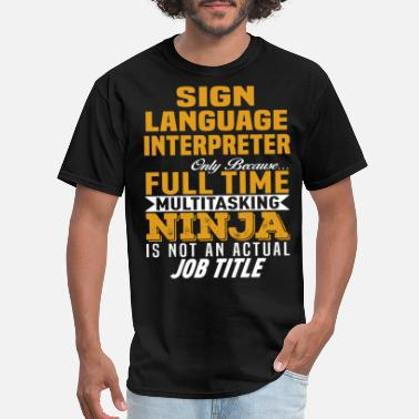 Language Sign Language Interpreter - Men's T-Shirt