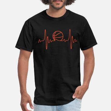 Basketball (basketball) - heartbeat - Men's T-Shirt