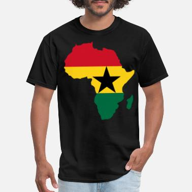 Ghana Ghana Flag In Africa Map - Men's T-Shirt