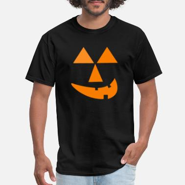 boo friendly pumpkin Halloween face - Men's T-Shirt