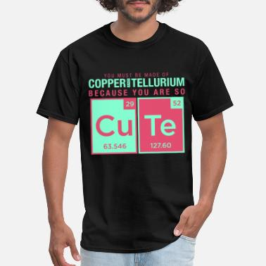 Elements Joke copper tellurium cute chemistry joke element - Men's T-Shirt