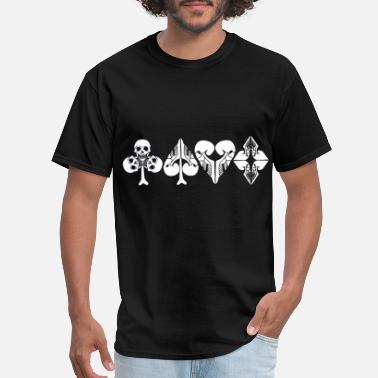 Halloween Design Poker Hearts spades diamonds clover Halloween - Men's T-Shirt