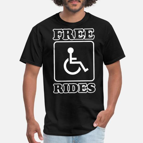 Mens I/'m Just In It For Parking Funny Handicap Humor Shirt 3//4 Triblend