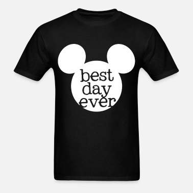 680bf9718 Disney Best Day Ever Mouse for Family Vacation in Men's T-Shirt ...