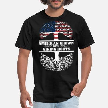 Viking Sportswear america grown with viking roots tree viking - Men's T-Shirt
