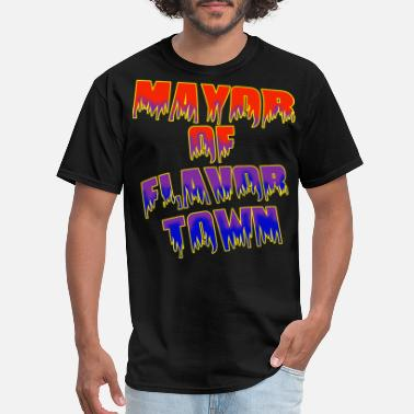 Mayor broz & bloz MAYOR OF FLAVOR TOWN shirt - Men's T-Shirt