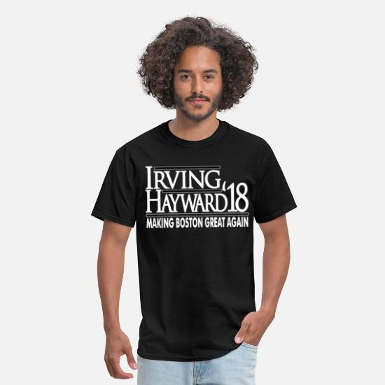 Fuck T-Shirts - Kyrie Irving Boston Celtics Irving Hayward jersey - Men's T-Shirt black