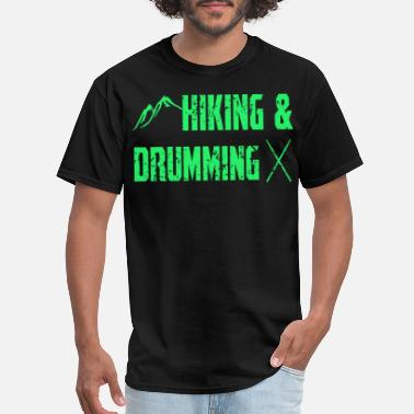 Percussion Drums Hiking and Drumming Mountains Percussion - Men's T-Shirt
