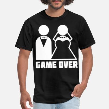 Game Over bachelor party married become husband wi - Men's T-Shirt