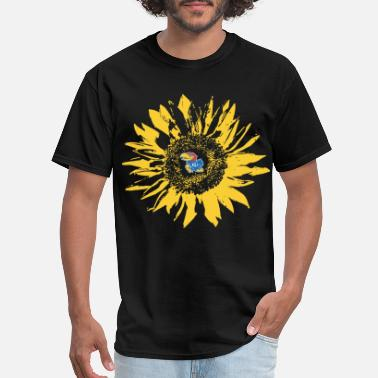 Jayhawk Funny Kansas Jayhawk Sunflower Team football - Men's T-Shirt