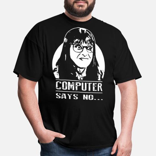 d93aca01 computer says no womens glasses black and white me Men's T-Shirt ...