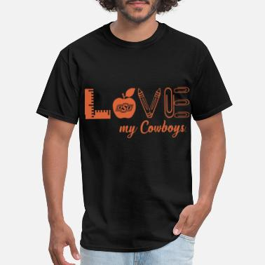 Oklahoma State Cowboys Love Teacher school student - Men's T-Shirt