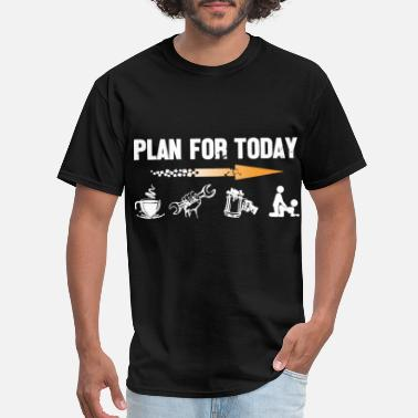 Today plan for today millwright coffee - Men's T-Shirt