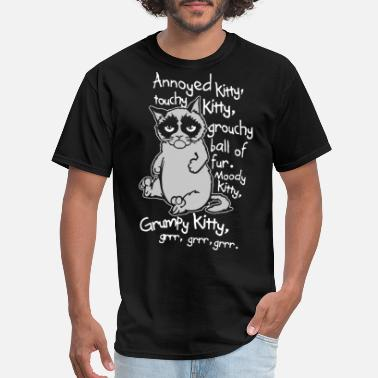 Kitty annoyed litty touchy kitty grouchy ball of fur moo - Men's T-Shirt
