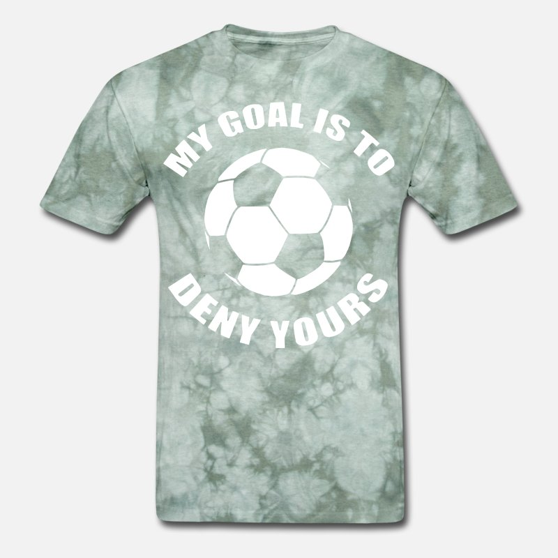 0013f4a6 my goal is to deny yours soccer goalier gift funny Men's T-Shirt |  Spreadshirt