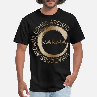 Around what goes around comes around Karma 70s - Men's T-Shirt