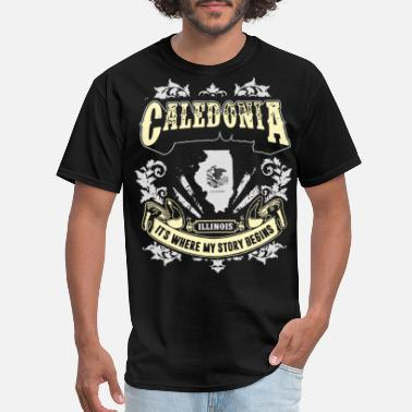 Where My Story Begins Caledonia Illinois it is where my story begins ame - Men's T-Shirt