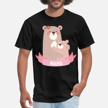 Mama Bear 2 Cubs Womens T Shirts Mama Bear With Cub - Men's T-Shirt