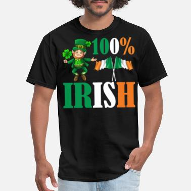 Percent 100 Percent Irish Awesome St Patricks Day T shirt - Men's T-Shirt