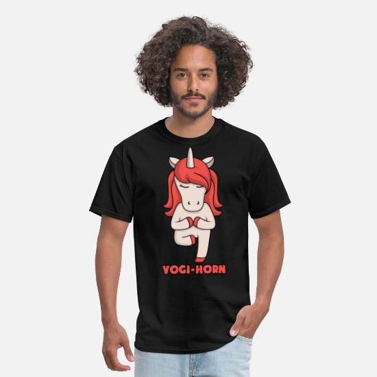Yogi T-Shirts - Yoga Unicorn Yogi Corn Yoga Gifts For Yoga Lover - Men's T-Shirt black
