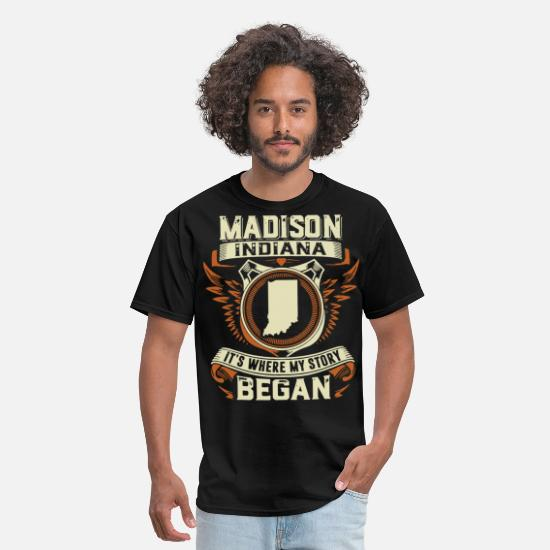 My T-Shirts - Madison Indiana it is where my story began birthda - Men's T-Shirt black