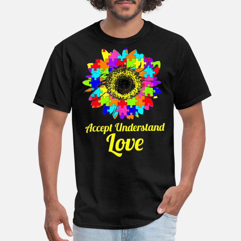 Accept Understand Love Women/'s V-Neck T-shirt Autism Awareness Month Tee