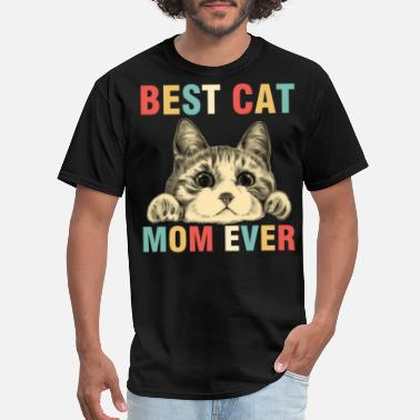Vintage Best Cat Mom Ever T Shirt Cat Mama Mother - Men's T-Shirt