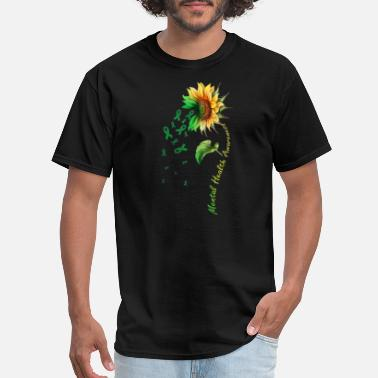 Health Mental Health Awareness Sunflower Shirt - Men's T-Shirt