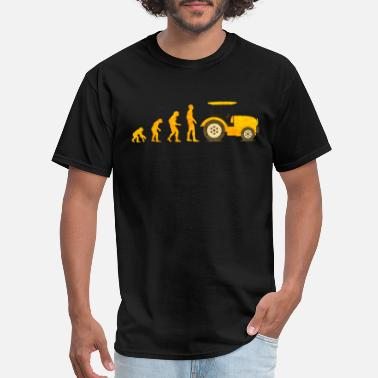 Trecker Evolution Traktor Trecker Farmer Farming Tractor - Men's T-Shirt