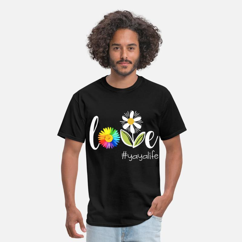 Yoga T-Shirts - love yoga life flower beautiful health yoga - Men's T-Shirt black