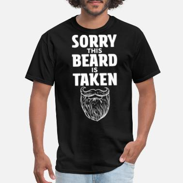 Hockey Store sorry this beard is taken valentines beard - Men's T-Shirt