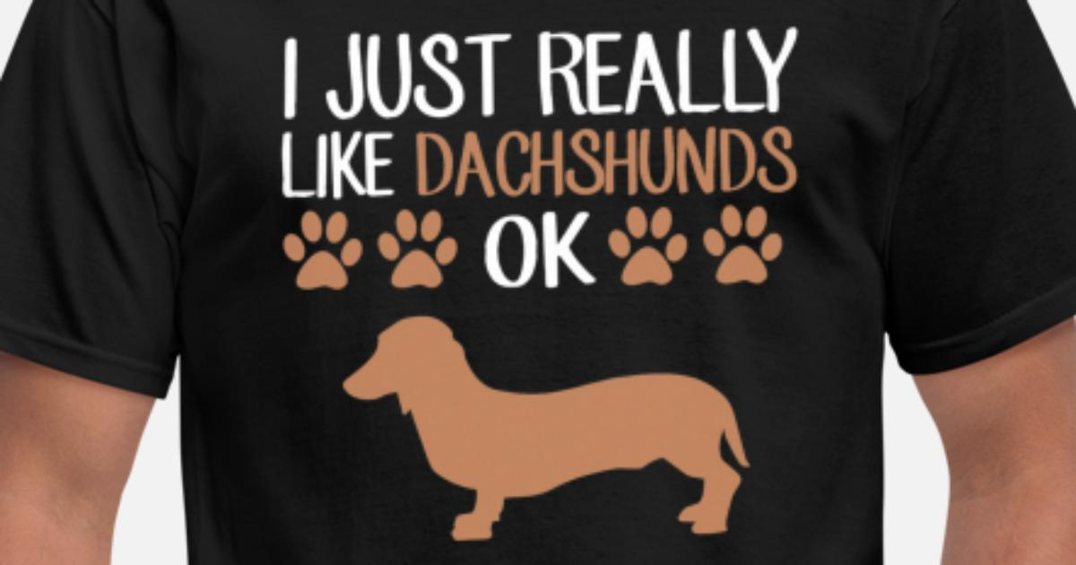 2d1873da Funny Weiner Dog Dachshund T-Shirt Cute Dog Lovers Men's T-Shirt |  Spreadshirt