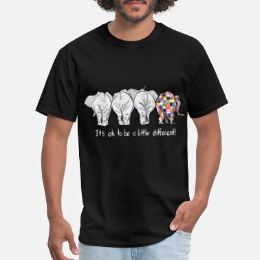 it is ok to be a little different elephant autism - Men's T-Shirt