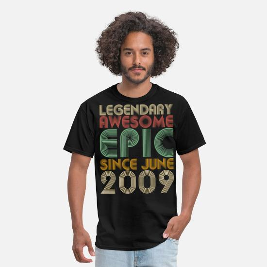 Legendary T-Shirts - Legendary Awesome Epic Since June 2009 Vintage - Men's T-Shirt black