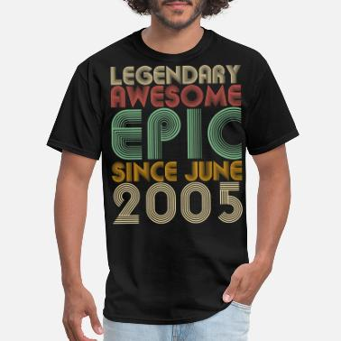 Surprise Legendary Awesome Epic Since June 2005 Vintage - Men's T-Shirt
