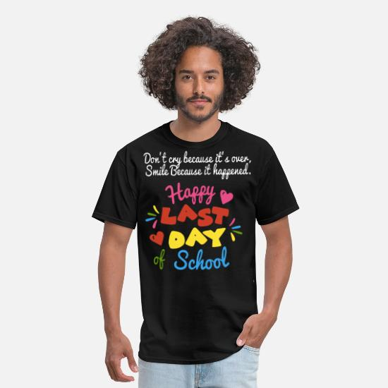 Seuss T-Shirts - don t cry because it s over smile because it happe - Men's T-Shirt black
