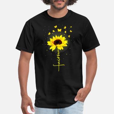 9a8d0d889 Faith Butterfly Sunflower Flower Tshirt - Men's ...