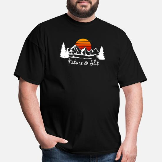 e598db7cee Funny Camping Shirt Nature & Shit T-Shirt Funny Men's T-Shirt ...