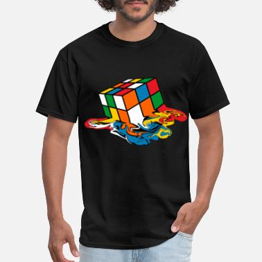 Melting Melting Rubik's Cube Toy - Men's T-Shirt