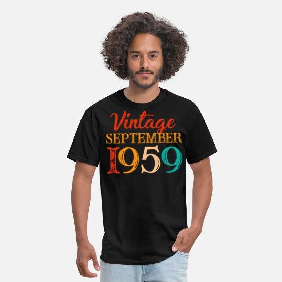 1959 T-Shirts - Vintage September 1959 Costume Cool 60th Birthday - Men's T-Shirt black