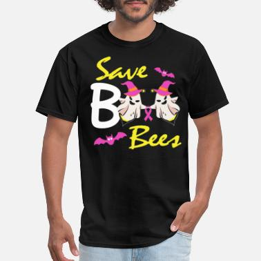 Save The Boo Bees Shirt Breast Cancer Awareness - Men's T-Shirt
