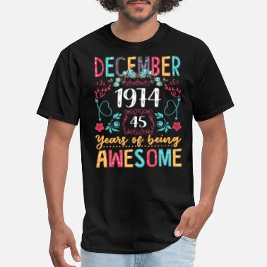 Floral Womens December 1974 45th Birthday Gifts - Men's T-Shirt