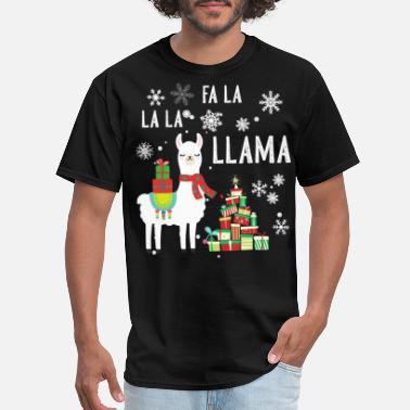 Novelty T Shirt Christmas Llama Drama Men/'s T-Shirt