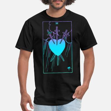 Witching Hour 3 of Swords Tarot Card Journal Rider Waite Witchy - Men's T-Shirt