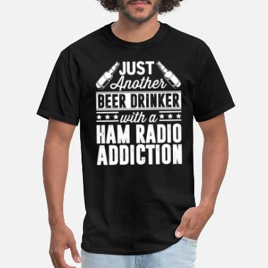 Radio Beer & Ham Radio Addiction - Men's T-Shirt