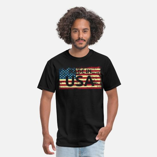 USA Clothes T-Shirts - Made in USA - Men's T-Shirt black